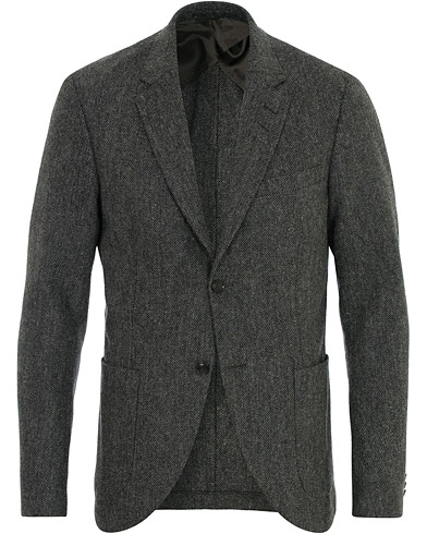 Tiger of Sweden Jamot Half Lined Structured Wool Blazer Grey Melange