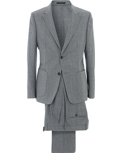 Z Zegna Techmerino Washable Flannel Suit Light Grey