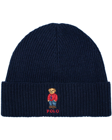 Polo Ralph Lauren Bear Beanie Hunter Navy  ryhmässä Asusteet / Pipot @ Care of Carl (16490010)