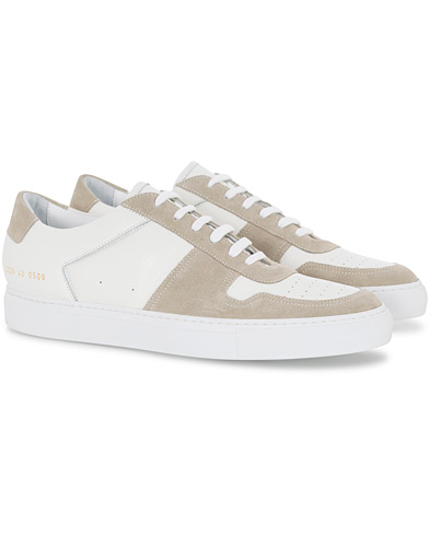 Common Projects B Ball Premium Leather/Suede Sneaker White ryhmässä Kengät / Tennarit @ Care of Carl (16543011r)