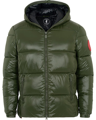 Save The Duck Mid Length Padded Puffer Pine Green ryhmässä Vaatteet / Takit / Untuvatakit @ Care of Carl (16559811r)