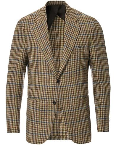Berg&Berg Dan II Gun Club Check Wool Blazer Brown/Olive