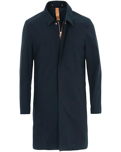 Private White V.C. Unlined Cotton Ventile Mac Coat 3.0 Midnight Navy