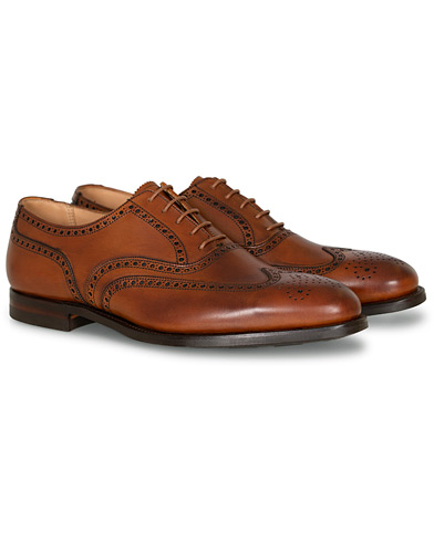 Crockett & Jones Westgate 2 City Sole Tan Brunished Calf ryhmässä Kengät / Brogue-kengät @ Care of Carl (16600011r)