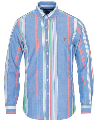 Polo Ralph Lauren Slim Fit Oxford Stripe Shirt Blue/Multi ryhmässä Vaatteet / Kauluspaidat / Rennot @ Care of Carl (16614511r)