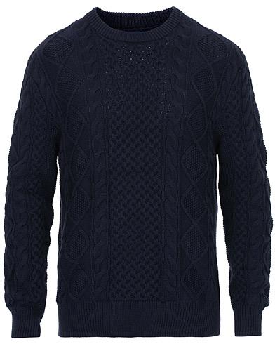 Polo Ralph Lauren Aran Knitted Sweater Hunter Navy