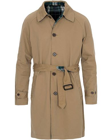Polo Ralph Lauren Reversible Trench Coat Desert Khaki/Gordon Tartan