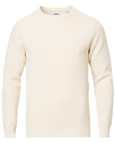Aspesi Cotton Beach Sweater Off White