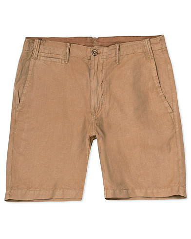Polo Ralph Lauren Linen/Cotton Shorts Tan ryhmässä Vaatteet / Shortsit / Pellavashortsit @ Care of Carl (16759011r)