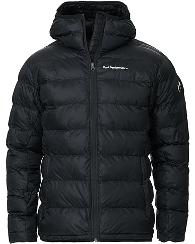 Peak Performance Lucas Hooded Jacket Black ryhmässä Vaatteet / Takit / Untuvatakit @ Care of Carl (16835711r)