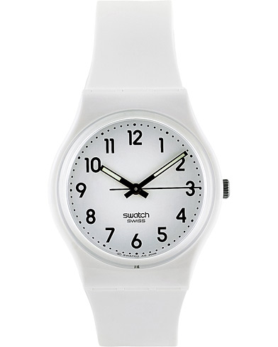 Swatch Just White Soft White  ryhmässä Asusteet / Kellot @ Care of Carl (16969010)