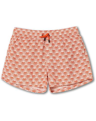 NIKBEN Studio Mr Ripley Swim Shorts Orange/Off White