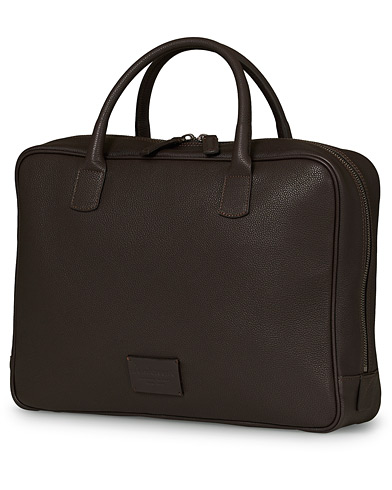 Anderson's Full Grain Leather Briefcase Dark Brown  ryhmässä Asusteet / Laukut / Salkut @ Care of Carl (17167610)