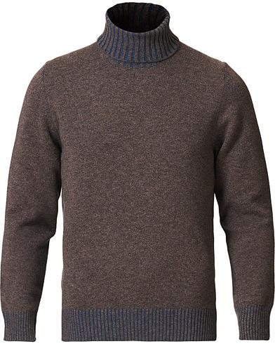 Gran Sasso Wool/Cashmere Rollneck Brown