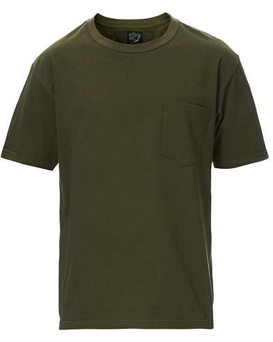 orSlow Military Pocket Tee Dark Olive