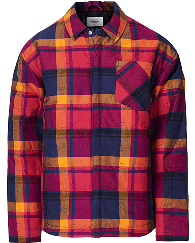 Peak Performance Ben Gorham Flannel Liner Overshirt Power Pink ryhmässä Vaatteet / Kauluspaidat / Rennot / Paitatakit @ Care of Carl (19256711r)