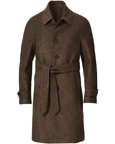 L.B.M. 1911 Raglan Belt Coat Brown