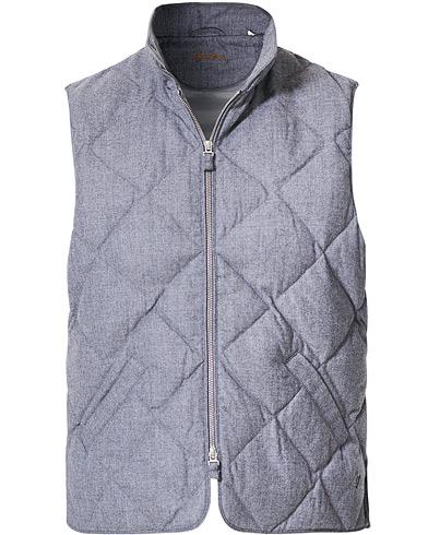 Stenströms Quilted Wool Vest Grey