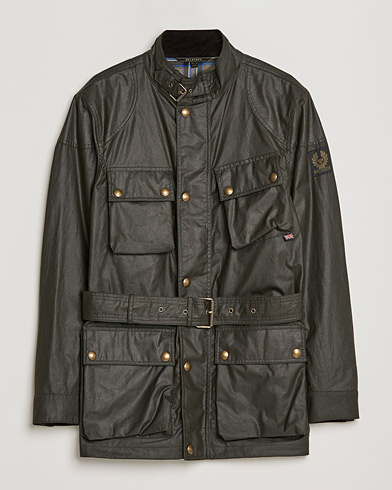 Belstaff Trialmaster Waxed Jacket Faded Olive