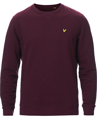Lyle & Scott Crew Neck Sweatshirt Burgundy ryhmässä Vaatteet / Puserot / Collegepuserot @ Care of Carl (19828711r)