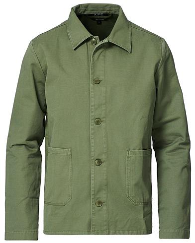 A.P.C. Kerlouan Shirt Jacket Olive