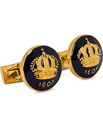 Cuff Links The Crown Gold/Royal Blue