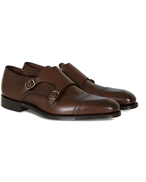 Loake 1880 Cannon Monkstrap Dark Brown Burnished Calf