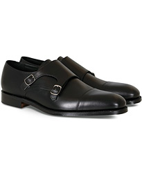 Loake 1880 Cannon Monkstrap Black Calf