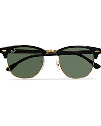 Clubmaster Sunglasses Ebony/Crystal Green