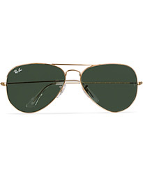 Aviator Large Metal Sunglasses Arista/Grey Green