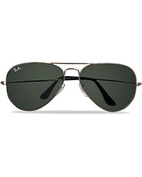 Aviator Large Metal Sunglasses Silver/Grey Mirror