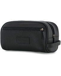 Barbour Lifestyle Leather Washbag Black