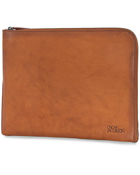 Oscar Jacobson Leather Document Case Brown
