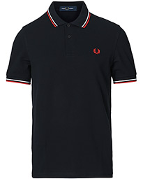 Fred Perry Twin Tip Polo Navy