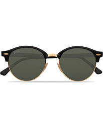Ray-Ban 0RB4246 Clubround Sunglasses Black/Green