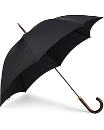 Polished Hardwood Umbrella Black