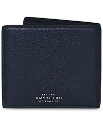 Smythson Burlington 6 Card Wallet Navy Deerskin