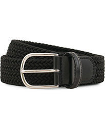 Anderson's Stretch Woven 3,5 cm Belt Black
