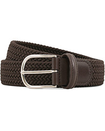 Stretch Woven 3,5 cm Belt Brown