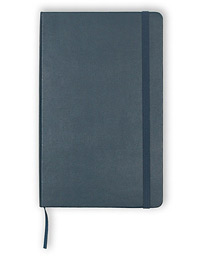 Plain Hard Notebook Large Sapphire Blue