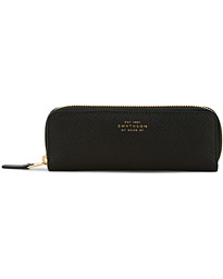 Smythson Panama Double Pencil Case Black