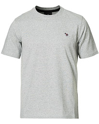 Regular Fit Zebra Tee Grey Melange
