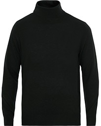 Filippa K Wool/Silk Rollneck Black
