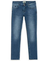 Steve Satin Stretch Jeans Blue