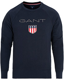 Shield Crew Neck Sweatshirts Evening Blue