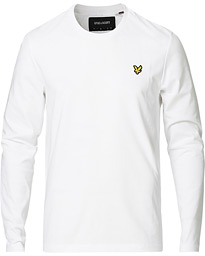 Lyle & Scott Long Sleeve Crew Neck Tee White