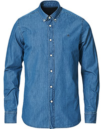 Morris Julian Botton Down Denim Shirt Light Wash