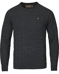 Merino Cable O-Neck Grey