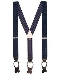Elastic Dot Braces 35 mm Blue