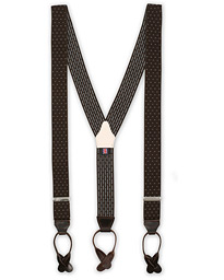 Elastic Dot Braces 35 mm Brown